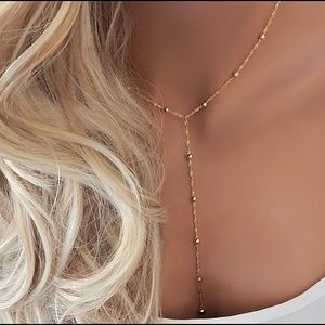 NEW Kylie Jenner inspired silver lariat necklace